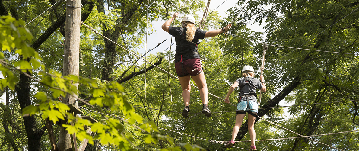 SIU Touch of Nature High Ropes Course